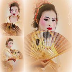 El maquillaje de hoy fue Geisha quedo espectacular****** Heutige Make-up war Geisha, war spektakulär