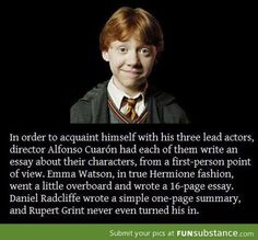 Oh Ron (or Rupert)! Harry Potter