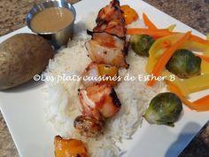 Les plats cuisinés de Esther B: Marinade érable et ketchup pour brochettes
