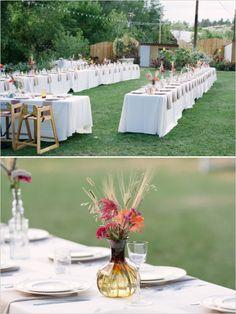 outdoor wedding reception at the lyons farmette www.pinkchampagneevents.com, www.katiehellingerphoto.com