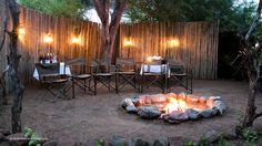 Romantic candlelit dinner in our private bush boma...  Photo © Heidi Watson