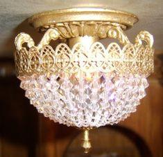The Titanic miniature .: Titanic Swarovski lamps.