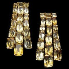 """Citrine and gold """"Sunrise"""" earrings by H.Stern"""