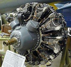 Pratt & Whitney Radial Engine at the New England Air Museum Aircraft Engine, Fighter Aircraft, Grumman F6f Hellcat, Focke Wulf 190, P 47 Thunderbolt, Radial Engine, F4u Corsair, Gas Turbine, Planes