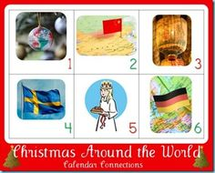 12 Days of Christmas ~ Christmas Around the World Calendar Connections from 1+1+1=1