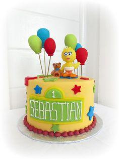 sesame street first birthday cake - Google Search