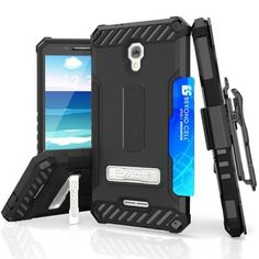 LG V20 Case, NageBee [Tri Shield] Hybrid Rugged Full Body Armor Defender Cover with kickstand, Card Slot & 360°Belt Clip Holster for LG V20 (Black) -- Awesome products selected by Anna Churchill