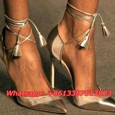 Gold Metallic Leder Schnüren Pumpen Spitz Flach Ausschnitte Stiletto Heels  Ankle Riemchensandalen Party Damen Schuhe frau e976c74e55