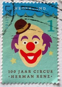 Today seems to be a day for creepy stamps...
