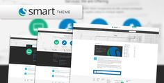 Smart Theme - PSD Template by indusnet Features: SMART THEME is a corporate style creative theme. It is unique, clean & modern multiple Page PSD Template. Its Ideal for