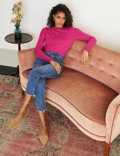 Blakenham Frill Sweater - Pink Flambe