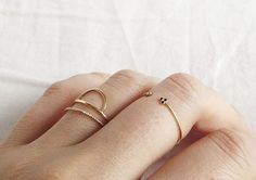 Delicated Minimal ring.Crafted in gold vermeil ( gold plated over .925 sterling…