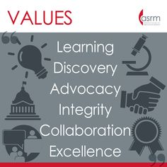 Learn more about the core values espoused by ASRM Core Values, Social Media Site, Infographics, Encouragement, Learning, Information Graphics, Infographic, Teaching, Infographic Illustrations