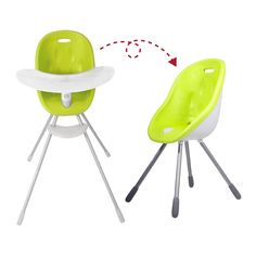 phil&teds poppy baby high chair to my chair lime (1200)