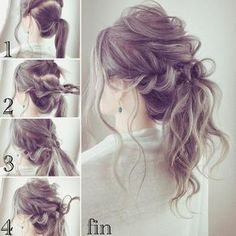 "Sweetened sweet hair is the right answer ♡ 10 easy ""sweet hair arrangements"" Work Hairstyles, Bride Hairstyles, Pretty Hairstyles, Hairstyle Men, Medium Hair Styles, Curly Hair Styles, Hair Arrange, Bridesmaid Hair, Hair Dos"