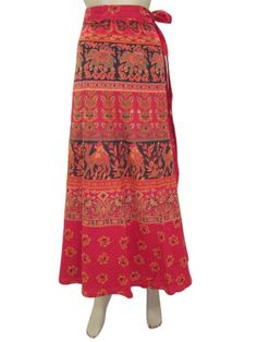 Bohemian Cotton Wrap Skirt Red Camel Print Indie Wrap Around Skirts Mogul Interior,http://www.amazon.com/dp/B00FHVO24C/ref=cm_sw_r_pi_dp_9t5rsb19HCV88115