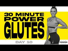 30 Minute Power Glutes Workout | POWER Program - Day 10 - YouTube Leg Butt Workout, Beginner Cardio Workout, Buttocks Workout, Workout For Beginners, Workout Videos, Gym Workouts, Work Out Routines Gym, Glutes, Friday
