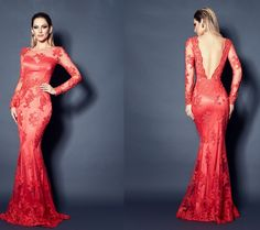 vestido cor coral com renda - Pesquisa Google