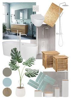 Small Shower Room, Small Bathroom, Light Grey Bathrooms, Bathroom Styling, Bathroom Interior Design, Estilo Tropical, Bathroom Inspiration, Home Design, Home Decor
