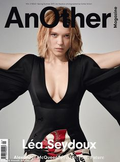 Celebrating film: Upcoming Bond girl Léa Seydoux was styled in current pieces from Sarah Burton's McQueen line for the final segment of the three-cover series