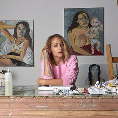 """I was having an identity crisis. So I stopped painting and moved to Florida. I met a guy there who wanted to paint me, and in turn gave me a corner of his studio. So that's when I started painting again. I still have a complicated relationship with art, I can't decide whether I love it or hate it"" Jemima Kirke #semaine #jemimakirke #quote #inspiration #inspirationalquotes #art #girls #girlshbo #quoteoftheday #vintage"
