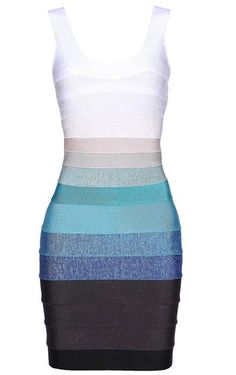 I need this as my birthday dress! Ombre Bandage Dress H151E US$89.00