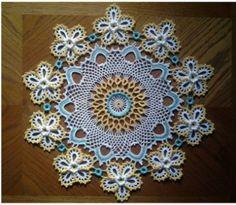 Carpeta o Centro de mesa a crochet – Mi Rincón del Tejido – Aprende Con Diana