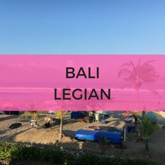 Bali Legian, Things To Do, Villa, Cinema, Neon Signs, Beach, Things To Make, Movies, Cinematography