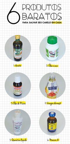 Love Triangle Blog: 6 Produtos baratos para Salvar seu Cabelo em Casa