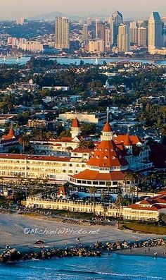 San Diego, California - Hotel Del Coronado and Downtown (by michaelwphoto on Flickr)