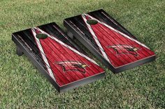 Saginaw Valley State Cardinals Reclaimed Wood w/ Triangle Bag Toss Game Set