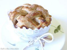 Tarta de manzana americana, american pie, mini pie de manzana y arándanos, tartaletas de manzana americanas, blog de reposteria, postre tipi...