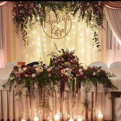 Whimsical Wedding, Boho Wedding, Fall Wedding, Wedding Flowers, Dream Wedding, Sweetheart Table Backdrop, Flower Decorations, Wedding Decorations, Grooms Table