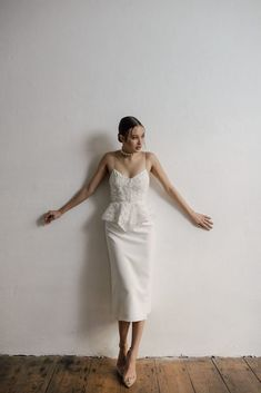 Amazing slip couture ivory Ritual Unions bridal gown **Check out THE DRESS TRIBE to see amazing dresses and find out which boutique stocks them! Crepe Wedding Dress, Civil Wedding Dresses, Dresses To Wear To A Wedding, Perfect Wedding Dress, Bridal Dresses, Minimalist Wedding Dresses, Bridal Photoshoot, Nice Dresses, Amazing Dresses