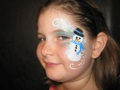 snowman face paint design - Christmas