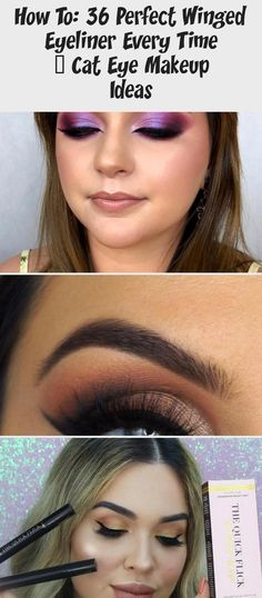 How to: 36 Perfect Winged Eyeliner Every Time - Cat Eye Makeup Ideas  #makeup #colorfulEyemakeupAfricanAmerican #colorfulEyemakeupVideos #BrightcolorfulEyemakeup #colorfulEyemakeupBrown #colorfulEyemakeupDrawing #HowToDoEyeshadow How To Do Eyeshadow, How To Apply Eyeliner, Eye Make Up Videos, Perfect Winged Eyeliner, Beauty Soap, Skincare Blog, Cat Eye Makeup, Colorful Eye Makeup, Eyeliner Tutorial
