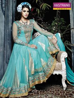 Awesome Anarkali suite with Duppatta.