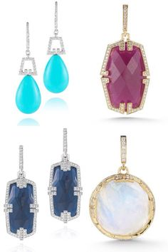 """We may wear more tan, grey, and black than we did in the sunny summer months, but any outfit can benefit from a pop of color. Now's the perfect time to stock up on the latest colored gemstone jewelry."" JCK Fall Trend Reports."