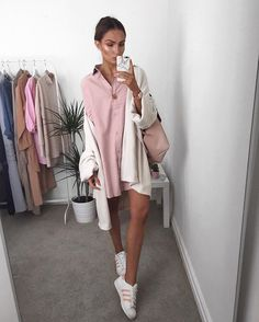 Pink shirt dress  @missyempire link to this in my bio now