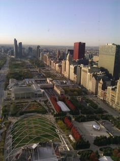 Millenium Park to Grant Park, beautiful open green space in the heart of the city.