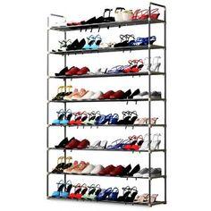 Rebrilliant 80 Pair Shoe Rack | Wayfair Shoe Storage Cabinet, Bench With Shoe Storage, Storage Chest, Dresser Storage, Storage Shelves, Space Saving Storage, Storage Spaces, 50 Pair Shoe Rack, Shoe Racks
