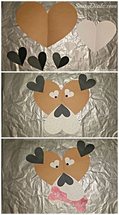 Valentine's Day Puppy Craft For Kids #Cute art project #Paper dog face | CraftyMorning.com