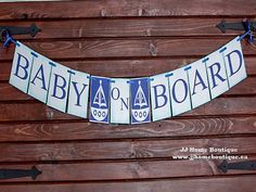 Baby on Board Banner,Nautical baby shower, nautical banner sign, Baby Shower Banner, Welcome Baby Banner, Birth announcement,Nursery Banner Engagement Photo Props, Engagement Party Decorations, Bridal Shower Decorations, Reception Decorations, Baby Banners, Shower Banners, Flag Banners, Nautical Banner, Nautical Baby