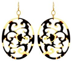 Tortoise Large Earrings | $30 Thrills  | One Kings Lane