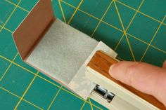 instructions for a matchbook needle holder - easy and good for travel projects