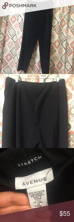 Black & Khaki Avenue pants (slacks/trousers style) Only worn a handful of times; perfect condition! Only one pocket on the back; zipper is on the hip of the pants. Pants Trousers