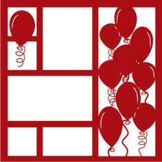 EZLaserDesigns : Balloons Art  scrapbook overlay celebration birthday layout