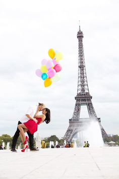 Love and happiness in Paris #France #Eiffel