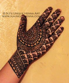 beautiful henna hand lace