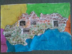 Slovenská republika a susedné štáty. Mesto, Map, World, Location Map, Maps, The World
